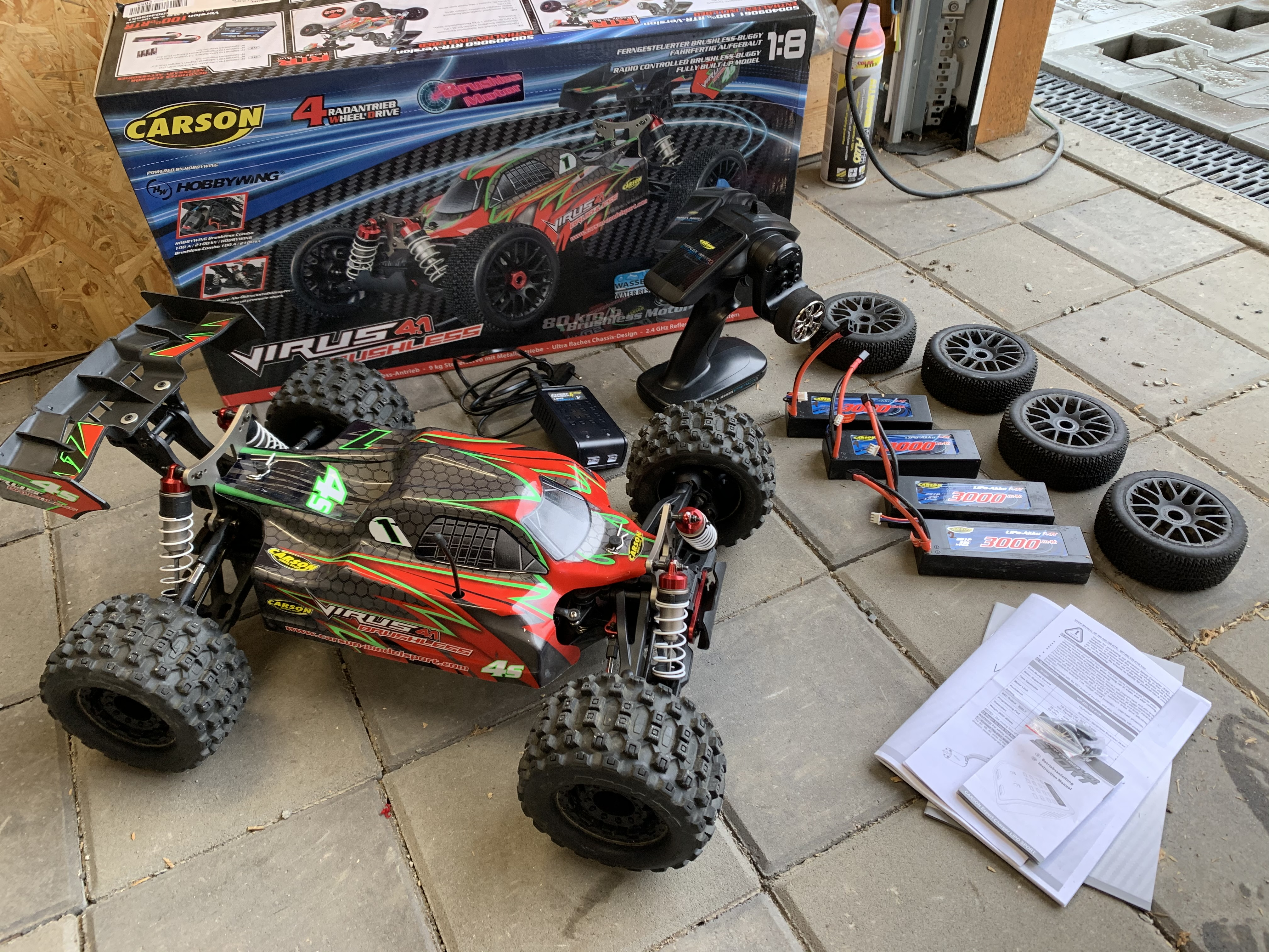 buggy 1/8 Carson 4.1 Brushless RTR + 4x lipo